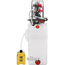 10 Quart Double Acting Hydraulic Pump Dump Trailer Control Kit Unloading 12V