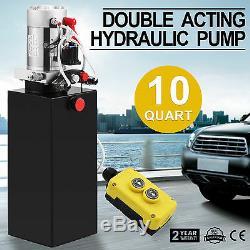 10 Quart Double Acting Hydraulic Pump Dump Trailer Crane Remote Unloading