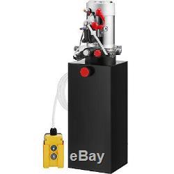 10 Quart Single Acting Hydraulic Pump Dump Trailer Lifting Crane Remote