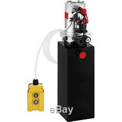 10 Quart Single Acting Hydraulic Pump Dump Trailer Lifting Iron Power Unit