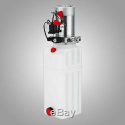 10 Quart Single Acting Hydraulic Pump Dump Trailer Lifting Plastic Car
