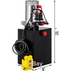 12 Quart Double Acting Hydraulic Pump Dump Trailer Control Kit 12V Reservoir