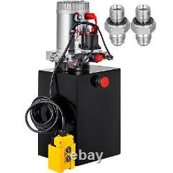 12 Quart Double Acting Hydraulic Pump Dump Trailer Unit Pack Iron Remote