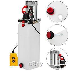 12 Quart Double Acting Hydraulic Pump Dump Trailer Unit Pack Unloading Reservoir