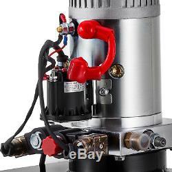 13 Quart Double Acting Hydraulic Pump Dump Trailer Power Unit Control Kit 12V