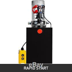 13 Quart Single Acting Hydraulic Pump Dump Trailer Iron Unloading 12V