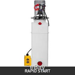 13 Quart Single Acting Hydraulic Pump Dump Trailer Power Unit Crane Unloading