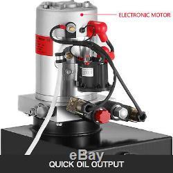 15 Quart Double Acting Hydraulic Pump Dump Trailer 12V Lifting Power Unit