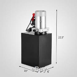 15 Quart Double Acting Hydraulic Pump Dump Trailer 12V Power Unit Control Kit