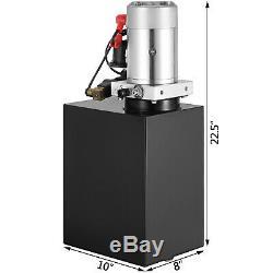 15 Quart Double Acting Hydraulic Pump Dump Trailer Power Unit DC 12V Unit Pack