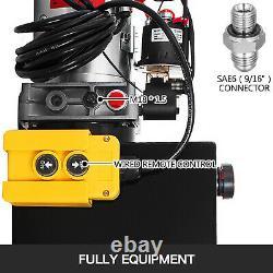 15 Quart Single Acting Hydraulic Pump Dump Trailer 12V Power Unit Lifting