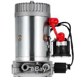 15 Quart Single Acting Hydraulic Pump Dump Trailer Lifting Crane Control Kit