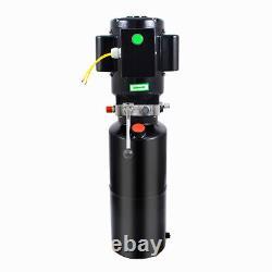 2.64/3.7 Gallon Single Acting Hydraulic Pump Dump Trailer Car Control Kit Lift