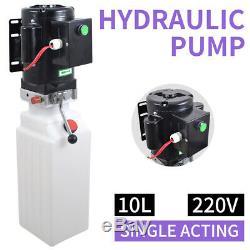 2.64 Gallon Single Acting Hydraulic Pump Dump Trailer Power Unit Crane Unloading