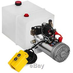 20 Quart Double Acting Hydraulic Pump Dump Trailer Reservoir Car Control Kit