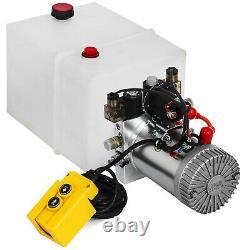 20 Quart Double Acting Hydraulic Pump Dump Trailer Unloading Car Repair