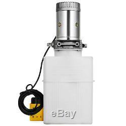 20 Quart Single Acting Hydraulic Pump Dump Trailer Control Kit Crane Power Unit