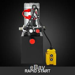 3 Quart Single Acting Hydraulic Pump Dump Trailer Lift Power Unit Car
