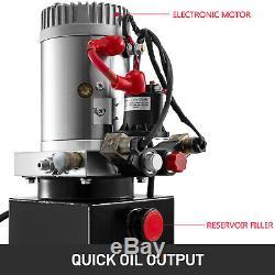 3 Quart Single Acting Hydraulic Pump Dump Trailer Lifting Reservoir Crane GOOD