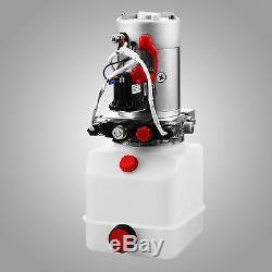 4 Quart Double Acting Hydraulic Pump Dump Trailer Lift Unit Pack 12V