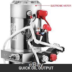 4 Quart Double Acting Hydraulic Pump Dump Trailer Remote Unloading Lifting