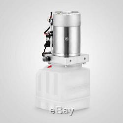 4 Quart Single Acting Hydraulic Pump Dump Trailer Unit Pack Power Unit 12 Volt
