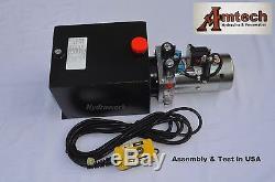 4210S Hydraulic Power Unit, Hyfraulic Pump, 12V Double Acting, 10Qt, Dump Trailer