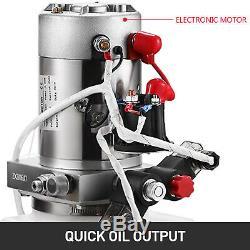 6 Quart Double Acting Hydraulic Pump Dump Trailer Control Kit Lift Power Unit