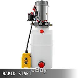 6 Quart Double Acting Hydraulic Pump Dump Trailer Control Kit Remote Plastic