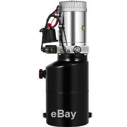 6 Quart Double Acting Hydraulic Pump Dump Trailer Lifting Control Kit Lift