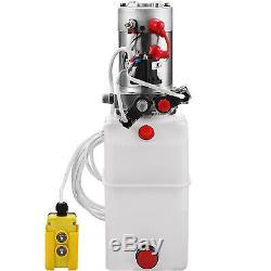 6 Quart Double Acting Hydraulic Pump Dump Trailer Plastic Lifting 12V