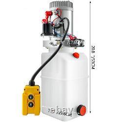 6 Quart Double Acting Hydraulic Pump Dump Trailer Unloading Repair Plastic
