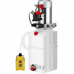 6 Quart Single Acting Hydraulic Pump Dump Trailer Control Kit Plastic Unloading