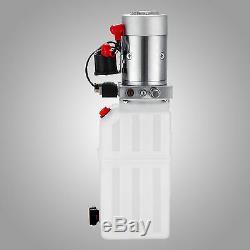 6 Quart Single Acting Hydraulic Pump Dump Trailer Lift 12V Control Kit