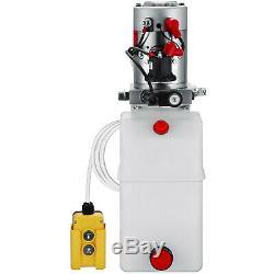 6 Quart Single Acting Hydraulic Pump Dump Trailer Repair Control Kit Power Unit