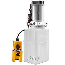 6 Quart Single & Double Acting Hydraulic Pump Dump Trailer Power Unit Car Remote
