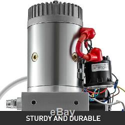 6 Way 6 Quart Double Acting Hydraulic Pump Dump Trailer Repair Unit Pack Lift
