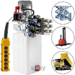 6 Way Hydraulic Pump 12V 6 Quart Double Acting Dump Trailer Control Kit