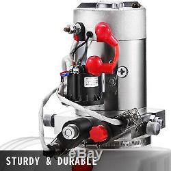 8 Quart Double Acting Hydraulic Pump Dump Trailer Plastic 12V Unloading Kit