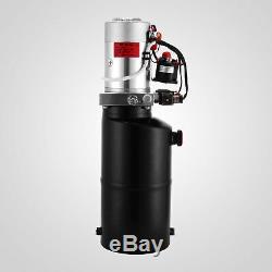 8 Quart Double Acting Hydraulic Pump Dump Trailer Power Unit Repair Car