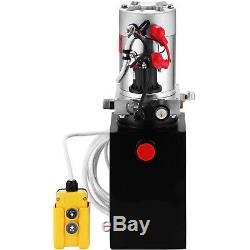 8 Quart Single Acting Hydraulic Pump Dump Trailer Car Lift 12V