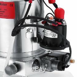 8 Quart Single Acting Hydraulic Pump Dump Trailer Control Kit 12V Car