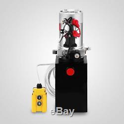 8 Quart Single Acting Hydraulic Pump Dump Trailer Lift Remote Crane