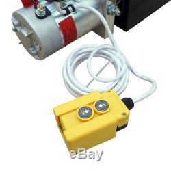 Double Acting Hydraulic Pump 12VDC Dump Trailer 10 Quart Metal Reservoir US