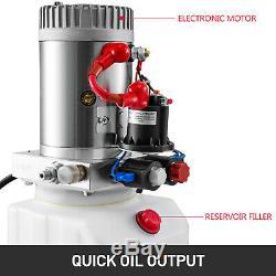 Double Acting Hydraulic Pump For Dump Trailers 12VDC 3 Quart Reservoir