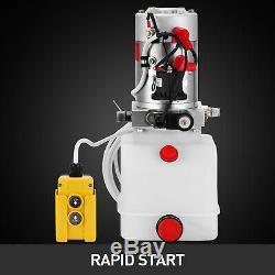 Hydraulic Pump 12V DC Single Acting 4 Quart Plastic Tank for Dump Trailer