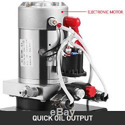 Hydraulic Pump 6 Quart Double Acting Dump Trailer 12V Unloading Power Unit