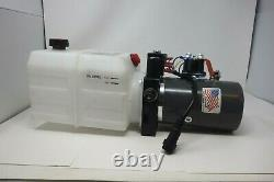 KTI Double Acting 12V DC Hydraulic Pump 6 Quart Reservoir Dump Trailers