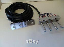 Lowrider hydraulics (PRE-WIRED) 2-PUMP -3DUMPS F-B-BL-BR /17 FT CORD. ANY COLOR