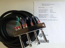 Lowrider hydraulics (PRE-WIRED) 2-PUMP +4 DUMPS F-B-BL-BR KIT With17 FT CORD